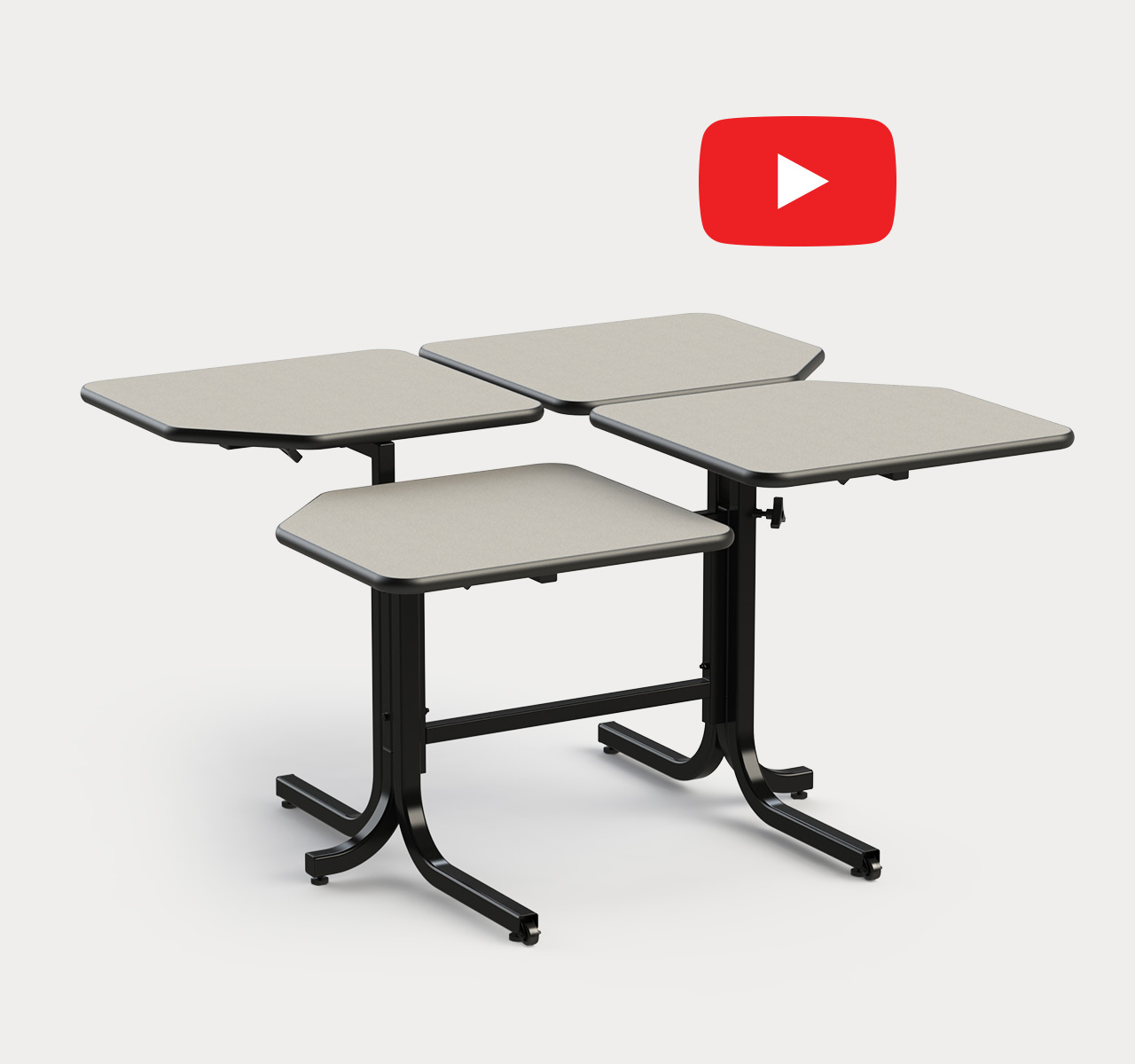 Butterlfy Adjustable Table (4 Seater)